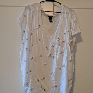 Mermaid print tshirt